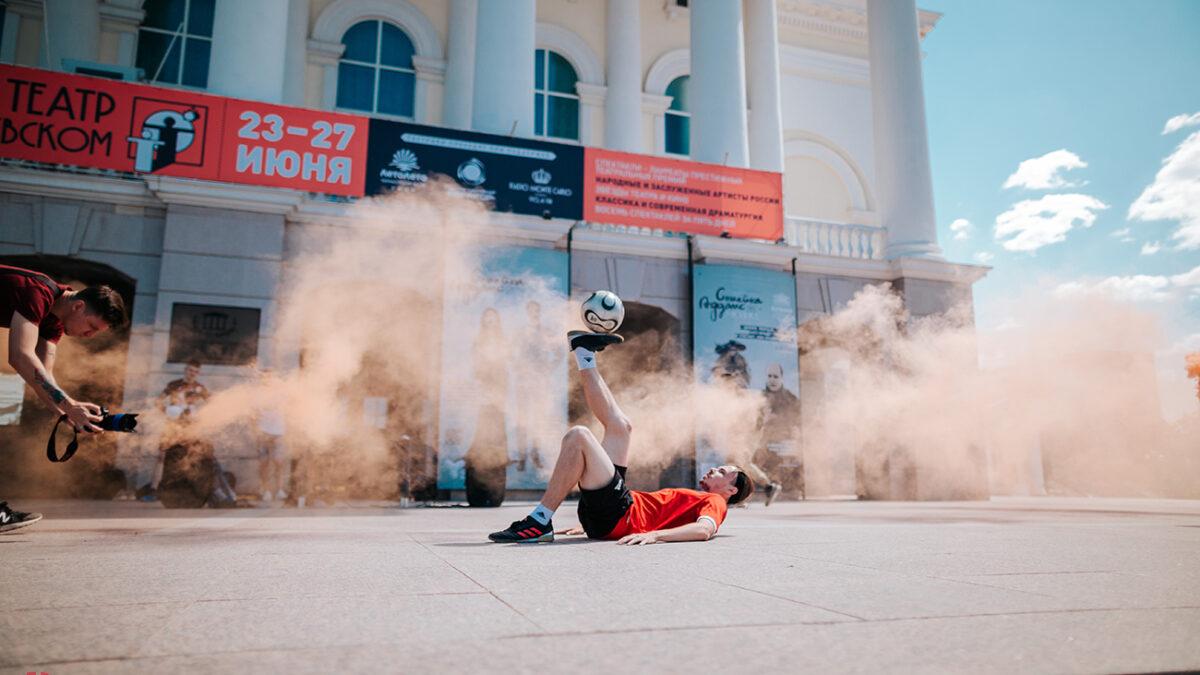 Турнир по текболу на площади 400-летия Тюмени